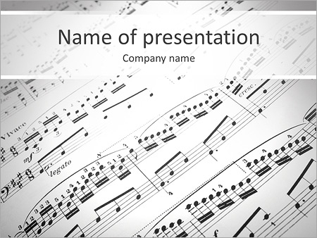 music school powerpoint template & backgrounds id 0000006353, Powerpoint templates