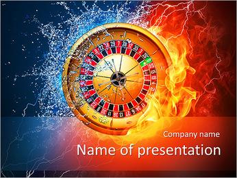 Wheel In Fire PowerPoint Template