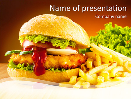 Pretty Fast Food Powerpoint Template Images Gallery Fast Food
