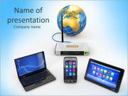 Internet Wi-Fi Plantillas de Presentaciones PowerPoint