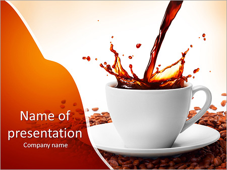 strong black coffee powerpoint template