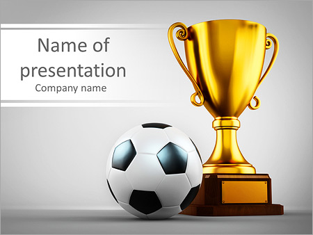 Football Trophy PowerPoint Template