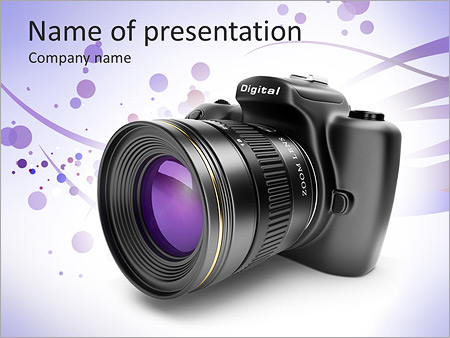 Camera powerpoint template smiletemplates photo camera powerpoint templates toneelgroepblik Images