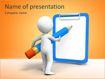 Write On Board PowerPoint Template