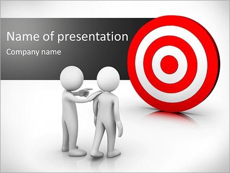 darts target powerpoint template backgrounds id 0000006456