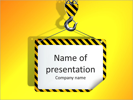 Crane PowerPoint Template & Backgrounds ID 0000006467 ...