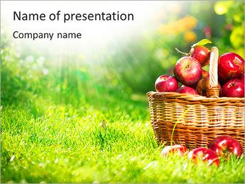Busket avec des pommes Modèles des présentations  PowerPoint