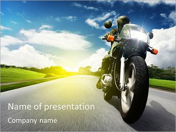 Motorfiets Sjablonen PowerPoint presentatie