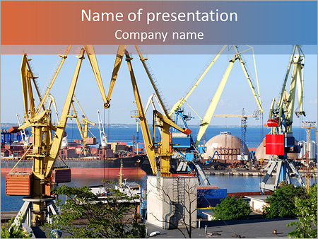 Port PowerPoint Template, Backgrounds & Google Slides - ID ...