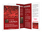 Red Silk Fabric Brochure Templates