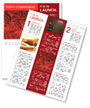 Red Silk Fabric Newsletter Templates