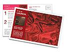 Red Silk Fabric Postcard Template