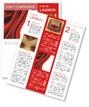 Red Fabric Newsletter Templates