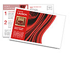 Red Fabric Postcard Template