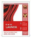 Red Fabric Poster Templates