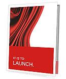 Red Fabric Presentation Folder