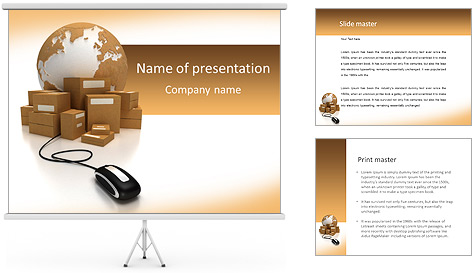 Online Courier Service PowerPoint Template Backgrounds ID – Powerpoint Flyer Template