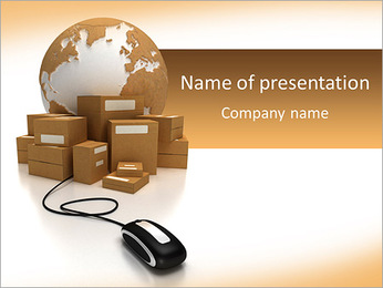 On-line Courier Service PowerPoint Template