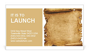 Ancient Papyrus Business Card Template