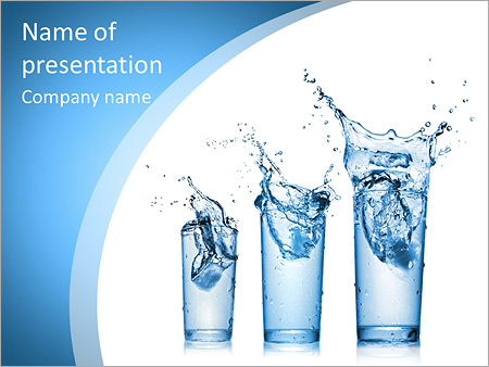 Glass Of Water Powerpoint Template & Backgrounds Id 0000006511