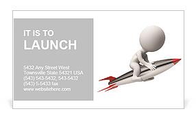 High Speed Rocket Business Card Template