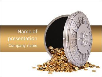 Bank Lock PowerPoint Template