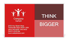 Red Rocket Business Card Template