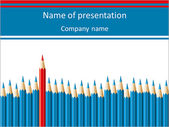 Pencil Set PowerPoint Template