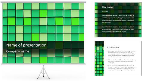 Vert avec des cercles Modèles des présentations  PowerPoint