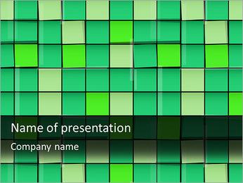Vert avec des cercles Modèles des présentations  PowerPoint - Diapositives 1