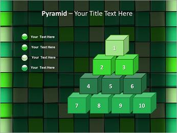 Vert avec des cercles Modèles des présentations  PowerPoint - Diapositives 11