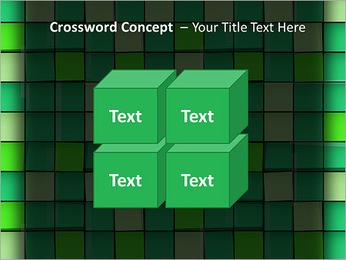 Vert avec des cercles Modèles des présentations  PowerPoint - Diapositives 19