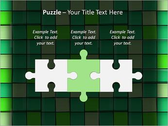 Vert avec des cercles Modèles des présentations  PowerPoint - Diapositives 22