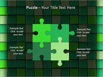 Vert avec des cercles Modèles des présentations  PowerPoint - Diapositives 23