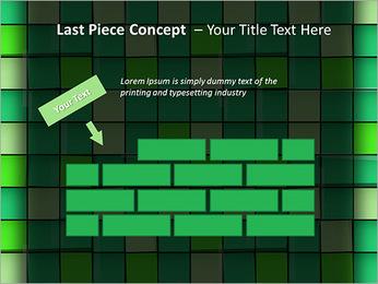 Vert avec des cercles Modèles des présentations  PowerPoint - Diapositives 26