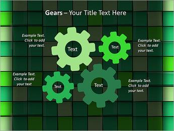 Vert avec des cercles Modèles des présentations  PowerPoint - Diapositives 27