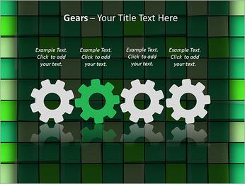 Vert avec des cercles Modèles des présentations  PowerPoint - Diapositives 28