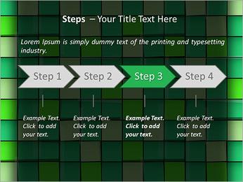 Vert avec des cercles Modèles des présentations  PowerPoint - Diapositives 4
