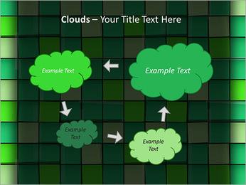 Vert avec des cercles Modèles des présentations  PowerPoint - Diapositives 52