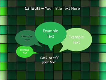 Vert avec des cercles Modèles des présentations  PowerPoint - Diapositives 53