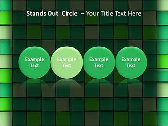 Vert avec des cercles Modèles des présentations  PowerPoint - Diapositives 56