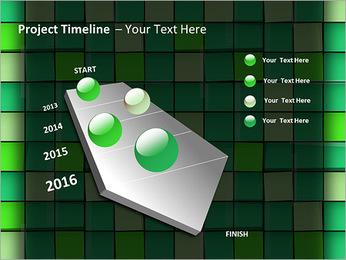 Vert avec des cercles Modèles des présentations  PowerPoint - Diapositives 6