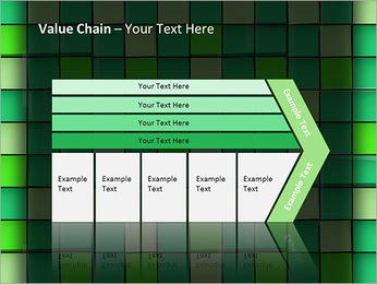 Vert avec des cercles Modèles des présentations  PowerPoint - Diapositives 7