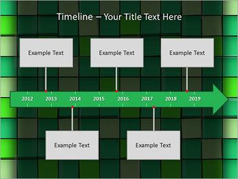 Vert avec des cercles Modèles des présentations  PowerPoint - Diapositives 8