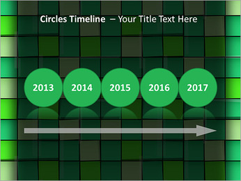 Vert avec des cercles Modèles des présentations  PowerPoint - Diapositives 9