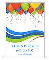 Birthday Balloon Ad Template