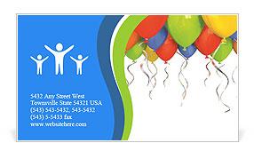 Birthday balloon business card template design id 0000006533 birthday balloon business card template reheart Gallery