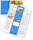 Birthday Balloon Newsletter Template