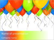 Verjaardag Ballon Sjablonen PowerPoint presentaties