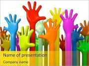 Mãos coloridas Modelos de apresentações PowerPoint